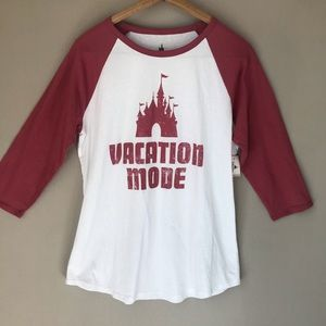 Disney World Land Vacation Shirt Raglan NWT